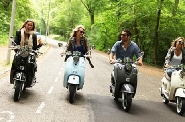 Met de scooter door Amsterdam